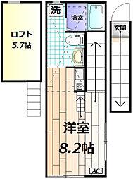 ar日野本町[203号室]の間取り