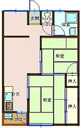 広島県呉市本町の賃貸マンションの間取り