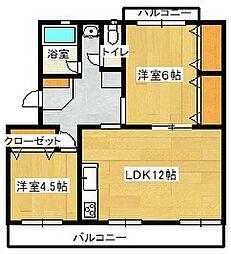 原田マンション[3階]の間取り