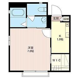 コージコート36[1階]の間取り
