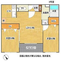 北海道札幌市豊平区美園七条2丁目の賃貸マンションの間取り
