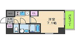 サムティ福島Rufle 10階1Kの間取り