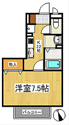 レクルスコートB棟[1階]の間取り