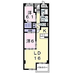 神奈川県横浜市都筑区北山田3丁目の賃貸マンションの間取り