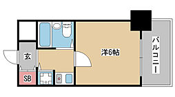 兵庫県神戸市中央区下山手通7丁目の賃貸マンションの間取り