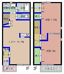 メゾンSMILE III棟[105号室]の間取り