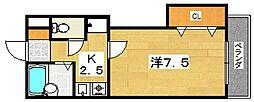 HILLEAST[3階]の間取り