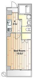 祐・HOUSE 3階1Kの間取り