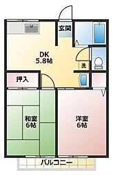 シティハイム平岡[1階]の間取り