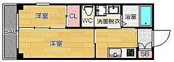 LIVING THINGS OHASHI[3階]の間取り