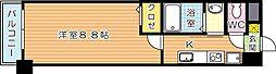 福岡県北九州市八幡西区折尾2丁目の賃貸マンションの間取り