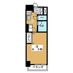 ヒルズ新栄2号館[2階]の間取り