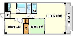 グレースフルハイツ1号館[2階]の間取り