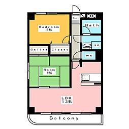 iステージマンション[2階]の間取り