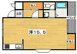 大阪府交野市藤が尾3丁目の賃貸マンションの間取り