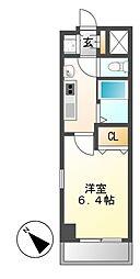 プレサンス鶴舞公園WEST[3階]の間取り
