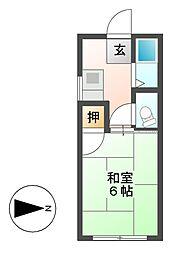 第2菊富士マンション[2階]の間取り