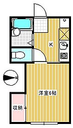 大村ハイツ[1階]の間取り