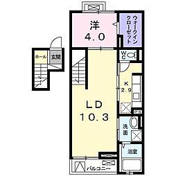 クレメントハウス[0403号室]の間取り