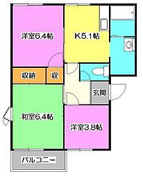 埼玉県所沢市大字牛沼の賃貸アパートの間取り
