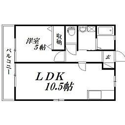 静岡県浜松市西区志都呂1丁目の賃貸アパートの間取り