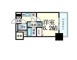Osaka Metro長堀鶴見緑地線 松屋町駅 徒歩4分の賃貸マンション 7階1Kの間取り