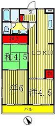 イアムス新松戸[2階]の間取り