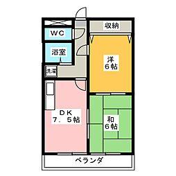 ラ・フォーレASAMI[2階]の間取り
