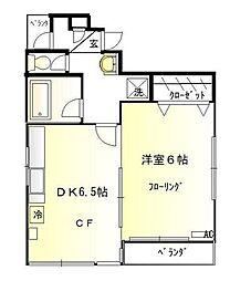 鈴木商事第9ビル[3-A号室]の間取り
