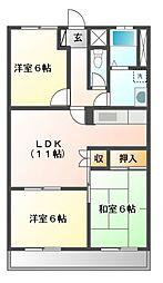 倉知マンションII[2階]の間取り