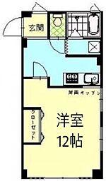神奈川県横浜市西区浅間町1の賃貸マンションの間取り
