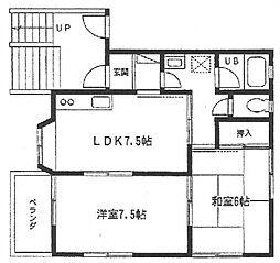 神奈川県横浜市港南区日限山3丁目の賃貸アパートの間取り