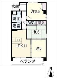 サンパルムK[3階]の間取り