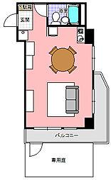 ライオンズマンション水戸三の丸[113号室]の間取り