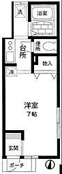 東京都新宿区西早稲田1丁目の賃貸アパートの間取り