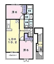アガパンサスI[2階]の間取り