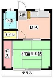 中野ハイツ[3階]の間取り