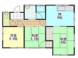 [一戸建] 岡山県岡山市中区倉益 の賃貸【/】の間取り