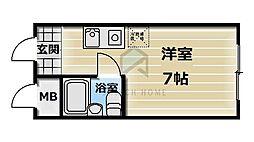 エクラノーブル[4階]の間取り