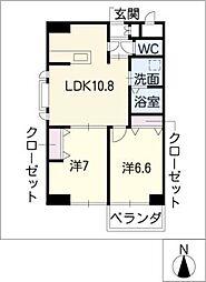葵21ビル[4階]の間取り