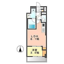 ポルタニグラ大須[402号室]の間取り