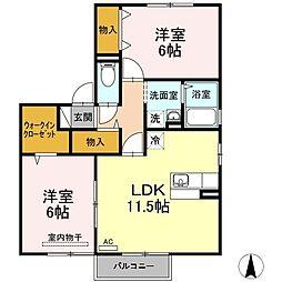 清水崎ハウス A棟[2階]の間取り