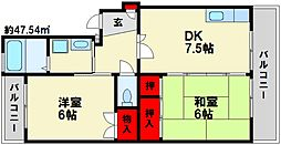 寺内ビル[2階]の間取り
