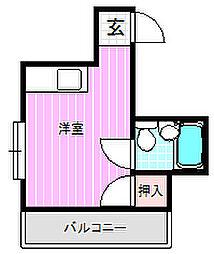 シティハイツ萱島[2階]の間取り