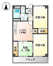 永安ビル[6階]の間取り