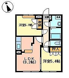 サンクリスタル[1階]の外観