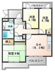ライオンズマンション津田沼東[3階]の間取り