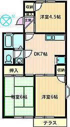 コーポラス渋谷I[101号室]の間取り