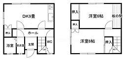 鳥取県米子市両三柳の賃貸アパートの間取り