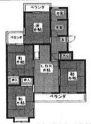 稲駅マンション[407号室]の間取り